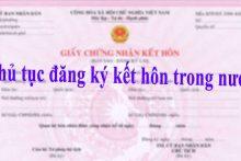 Thủ tục đăng ký kết hôn trong nước
